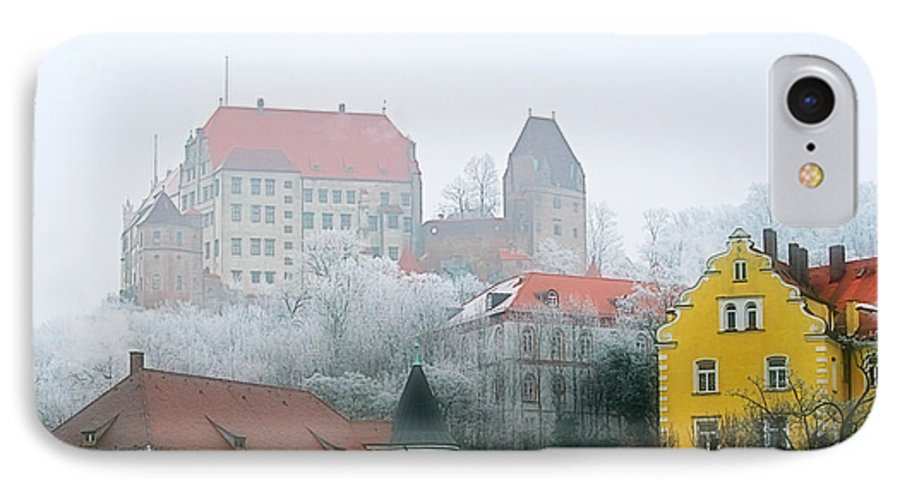 City IPhone 7 Case featuring the photograph Landshut Bavaria On A Foggy Day by Christine Till