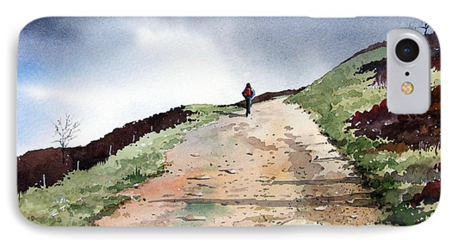Landscape IPhone 7 Case featuring the painting Lane To Quarry Pole Moor by Paul Dene Marlor