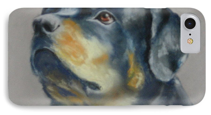 Dog IPhone 7 Case featuring the painting Lars by Carol Mueller