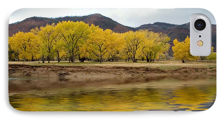 River IPhone 7 Case featuring the photograph Las Animas Fall by Jerry McElroy