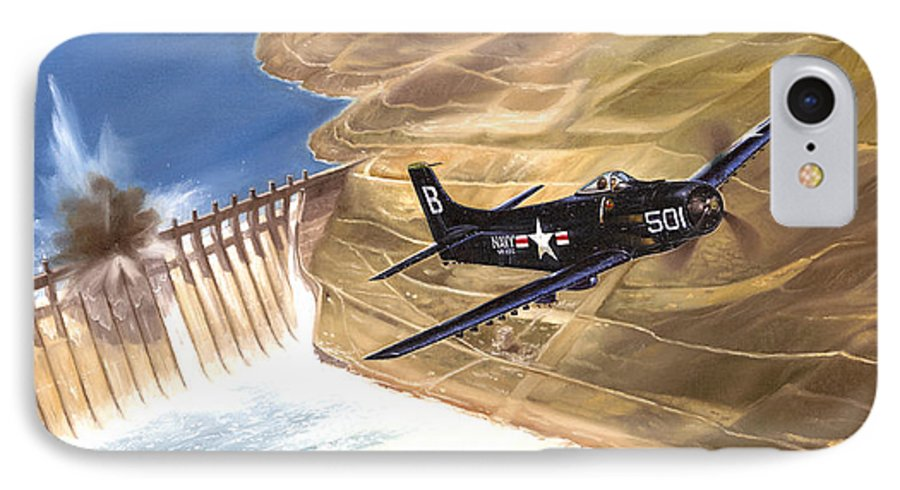 Military IPhone 7 Case featuring the painting Last Of The Dambusters by Marc Stewart