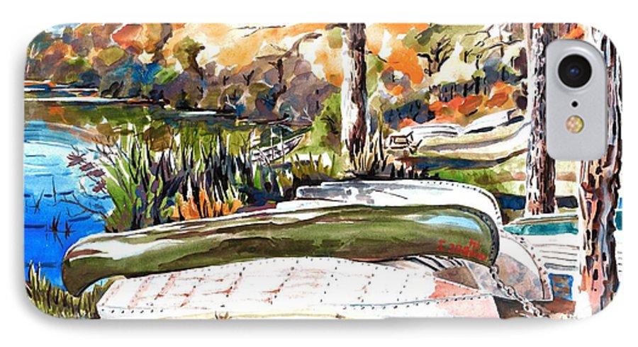 Last Summer In Brigadoon IPhone 7 Case featuring the painting Last Summer In Brigadoon by Kip DeVore