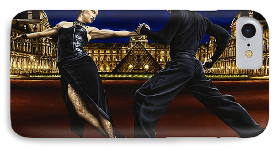 Tango IPhone 7 Case featuring the painting Last Tango In Paris by Richard Young