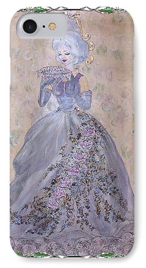 Still Life IPhone 7 Case featuring the painting Lavender Lady by Phyllis Mae Richardson Fisher