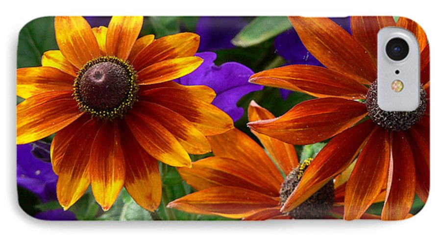 Flowers IPhone 7 Case featuring the photograph Layers Of Color by Larry Keahey
