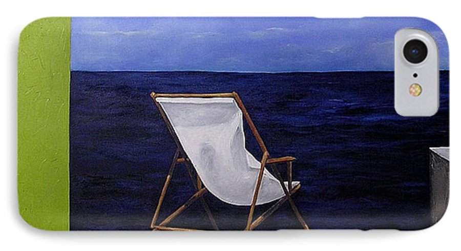 Seascape IPhone 7 Case featuring the painting Lazy Days by Trisha Lambi