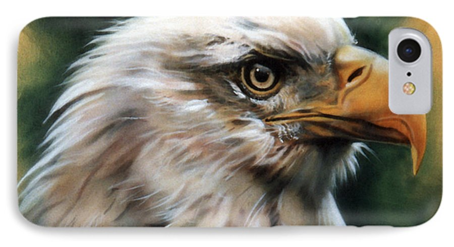 Southwest Art IPhone 7 Case featuring the painting Leather Eagle by J W Baker