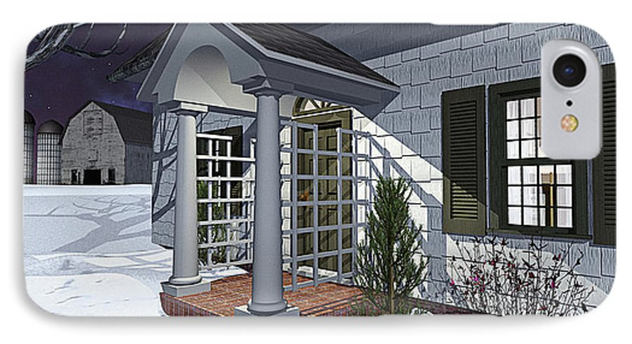 Porch IPhone 7 Case featuring the photograph Leave The Porch Light On by Peter J Sucy