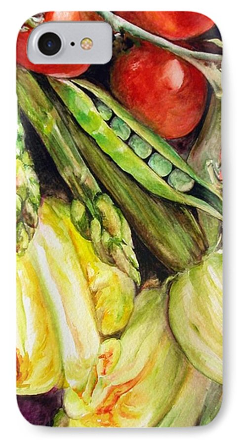 Still Life IPhone 7 Case featuring the painting Legumes by Muriel Dolemieux