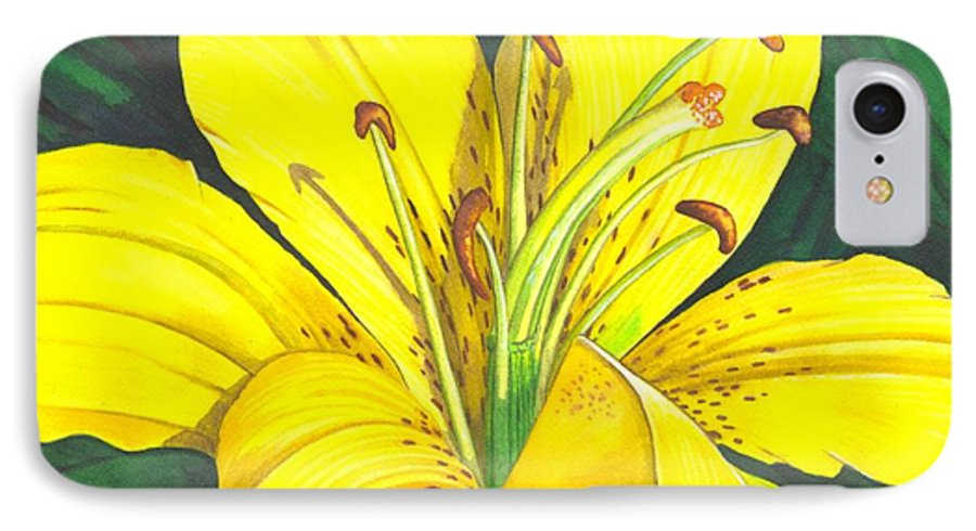 Lily IPhone 7 Case featuring the painting Lemon Lily by Catherine G McElroy