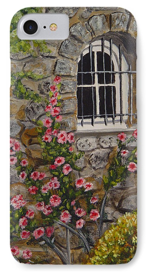 Window IPhone 7 Case featuring the painting Les Arcs Sur Argens by Quwatha Valentine