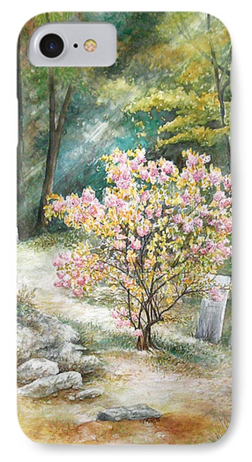 Landscape IPhone 7 Case featuring the painting Life by Valerie Meotti