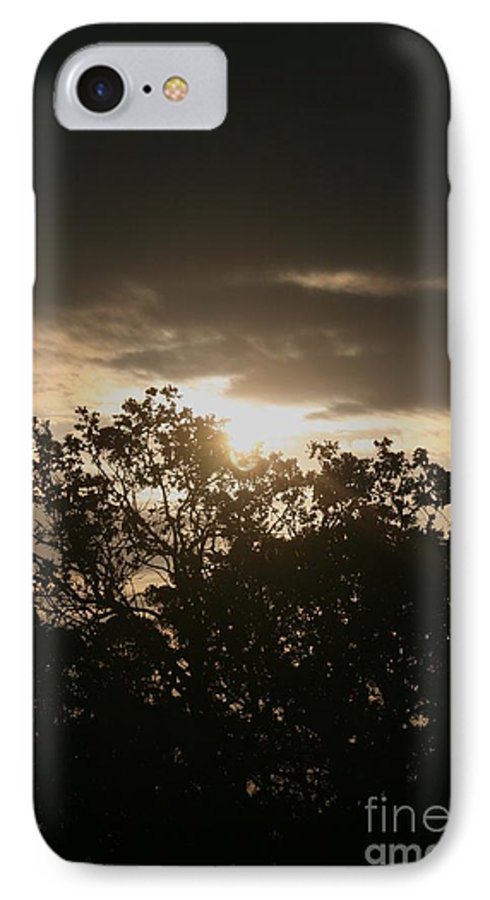 Light IPhone 7 Case featuring the photograph Light Chasing Away The Darkness by Nadine Rippelmeyer