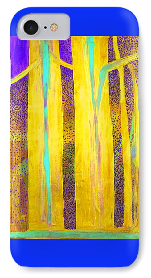 IPhone 7 Case featuring the painting Light In The Forest by Jarle Rosseland