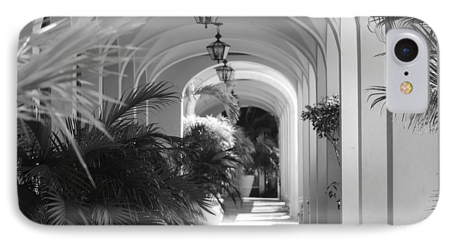 Architecture IPhone 7 Case featuring the photograph Lighted Arches by Rob Hans