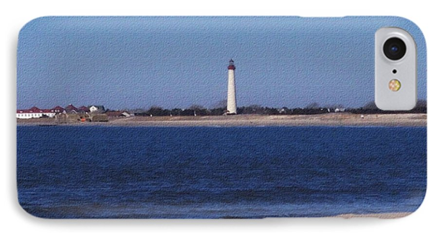 Lighthouse IPhone 7 Case featuring the photograph Lighthouse At The Point by Pharris Art