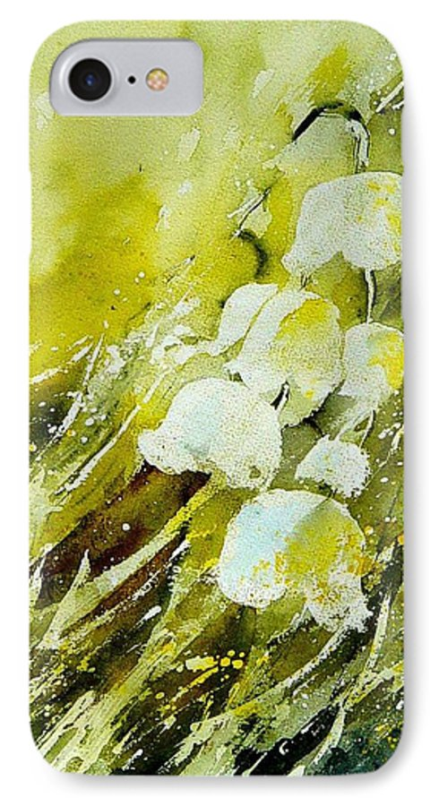 Flowers IPhone 7 Case featuring the painting Lilly Of The Valley by Pol Ledent
