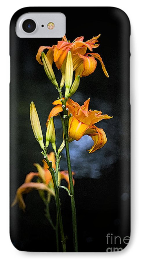 Lily Monet Garden Flora IPhone 7 Case featuring the photograph Lily In Monets Garden by Sheila Smart Fine Art Photography