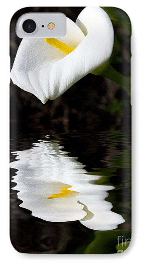 Lily Reflection Flora Flower IPhone 7 Case featuring the photograph Lily Reflection by Sheila Smart Fine Art Photography