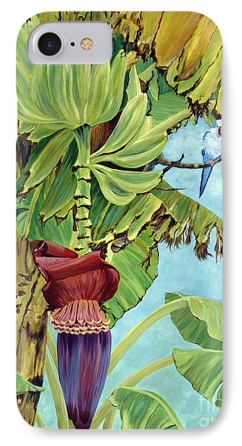 Tropical IPhone 7 Case featuring the painting Little Blue Quaker by Danielle Perry