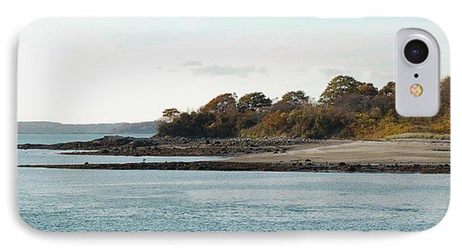 Island IPhone 7 Case featuring the photograph Little Chebeague Beach by Faith Harron Boudreau