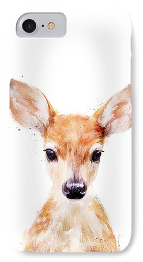 Fawn IPhone 7 Case featuring the painting Little Deer by Amy Hamilton