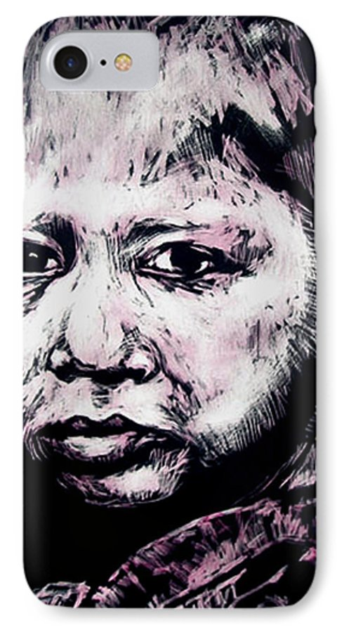 IPhone 7 Case featuring the mixed media Little Rosita by Chester Elmore