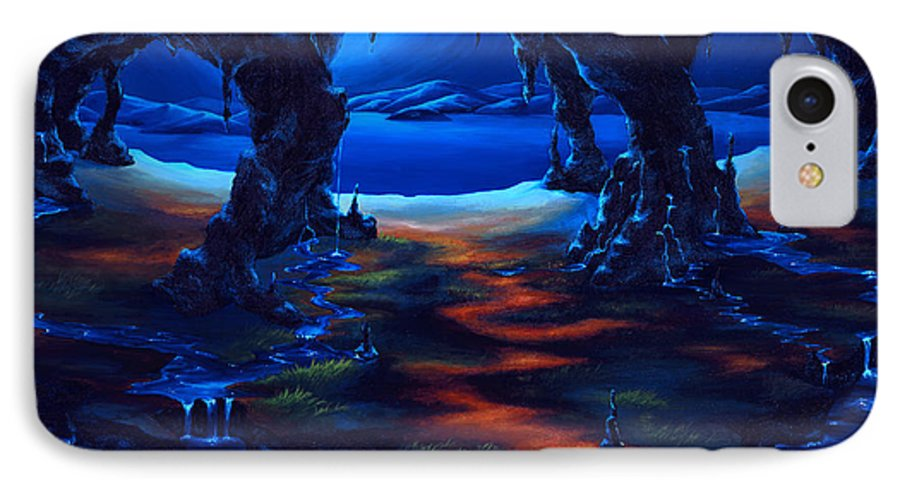 Textured Painting IPhone 7 Case featuring the painting Living Among Shadows by Jennifer McDuffie