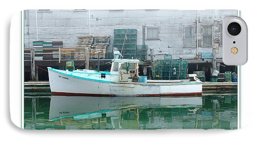 Landscape IPhone 7 Case featuring the photograph Lobster Boat by Peter Muzyka