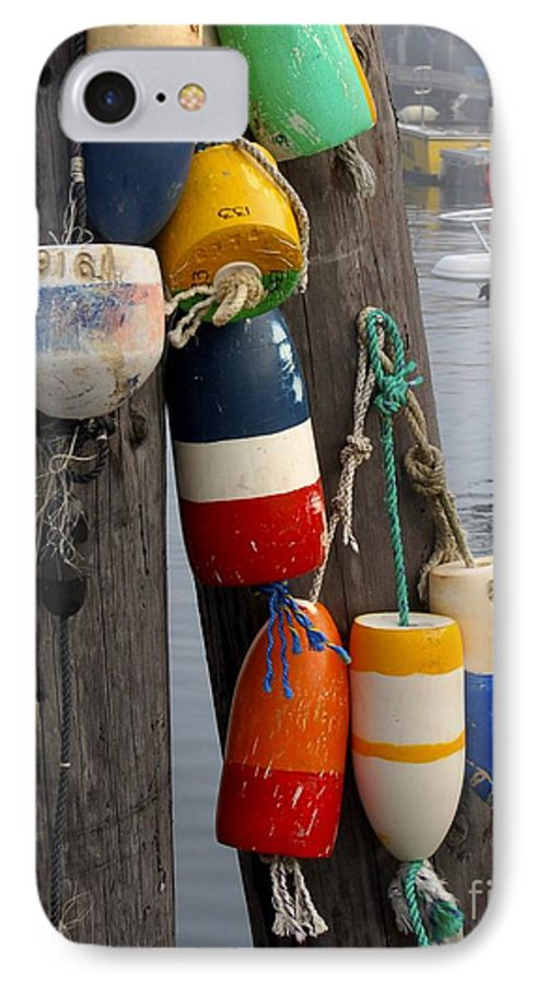 Lobster IPhone 7 Case featuring the photograph Lobster Buoy At Water Taxi Pier by Faith Harron Boudreau