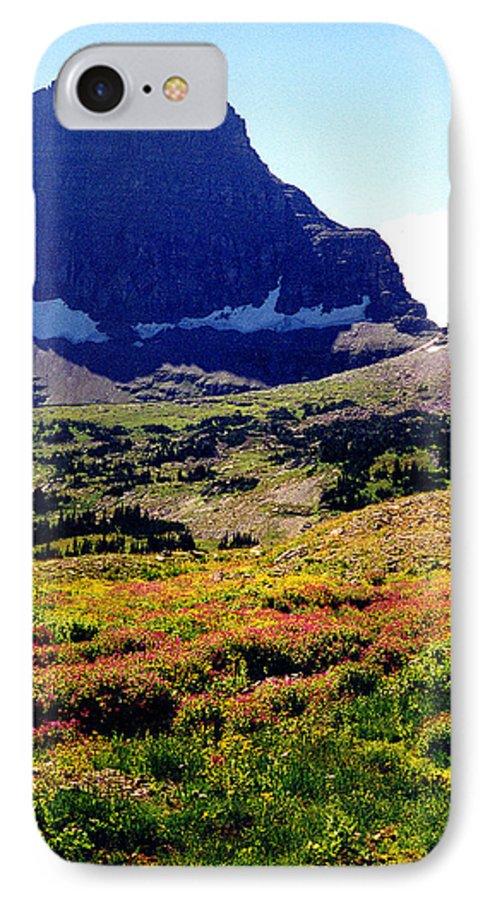 Glacier National Park IPhone 7 Case featuring the photograph Logans Pass In Glacier National Park by Nancy Mueller