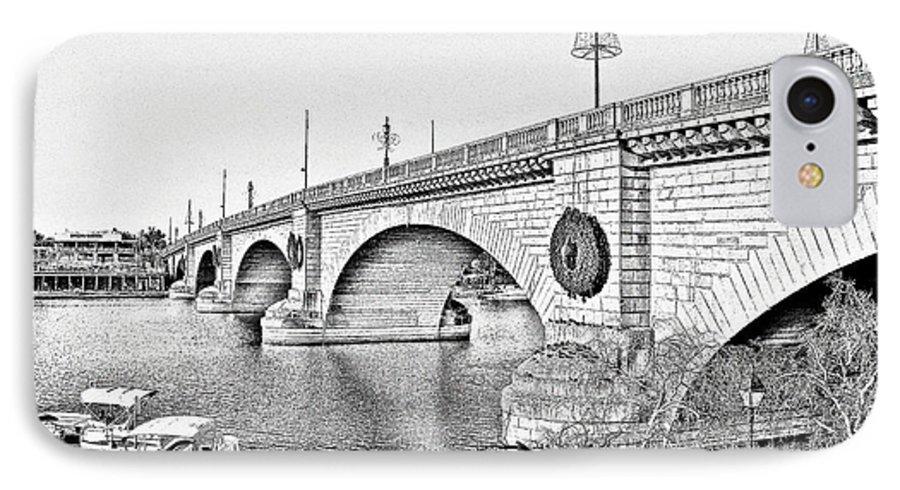 Lake Havasu IPhone 7 Case featuring the photograph London Bridge Lake Havasu City Arizona by Christine Till