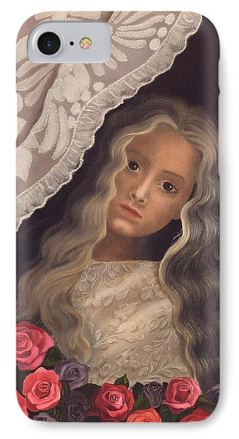 Victorian IPhone 7 Case featuring the painting Longing by Brenda Ellis Sauro