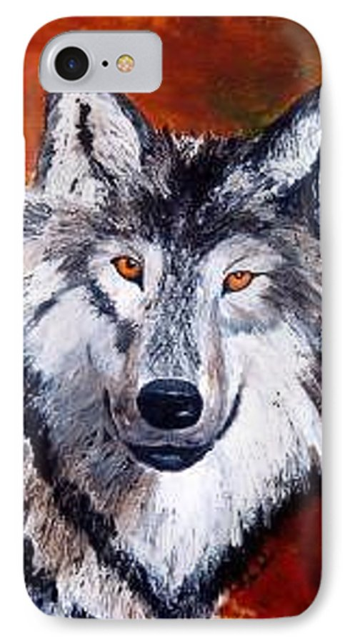Palette Knife IPhone 7 Case featuring the painting Look Into My Eyes by Tami Booher