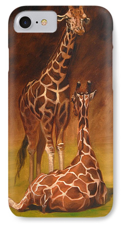 Oil IPhone 7 Case featuring the painting Looking Out For Each Other by Greg Neal