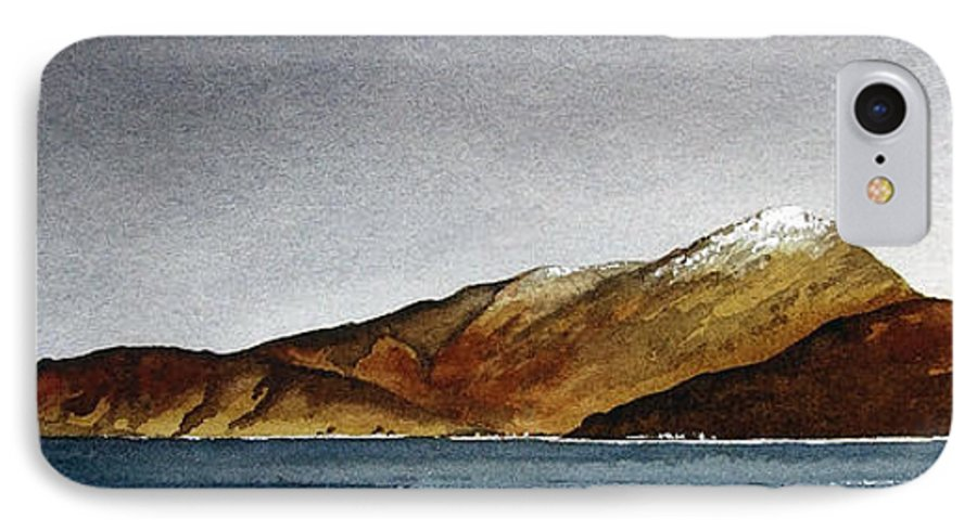Seascape IPhone 7 Case featuring the painting Looking Towards Arran From Skipness by Paul Dene Marlor