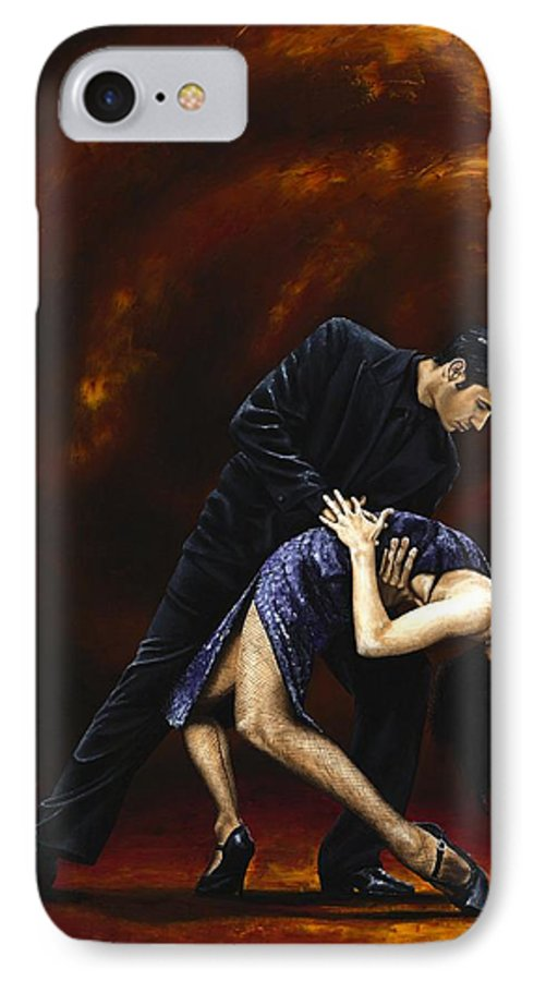 Tango IPhone 7 Case featuring the painting Lost In Tango by Richard Young