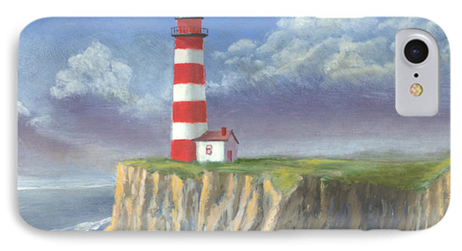Light IPhone 7 Case featuring the painting Lost Point Light by Jerry McElroy