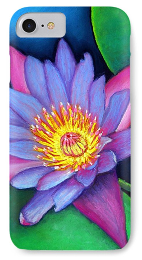 Flower IPhone 7 Case featuring the painting Lotus Divine by Minaz Jantz