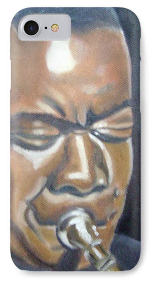 Louis Armstrong IPhone 7 Case featuring the painting Louis Armstrong by Toni Berry