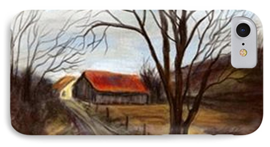 Barn IPhone 7 Case featuring the painting Louisa Kentucky Barn by Gail Kirtz