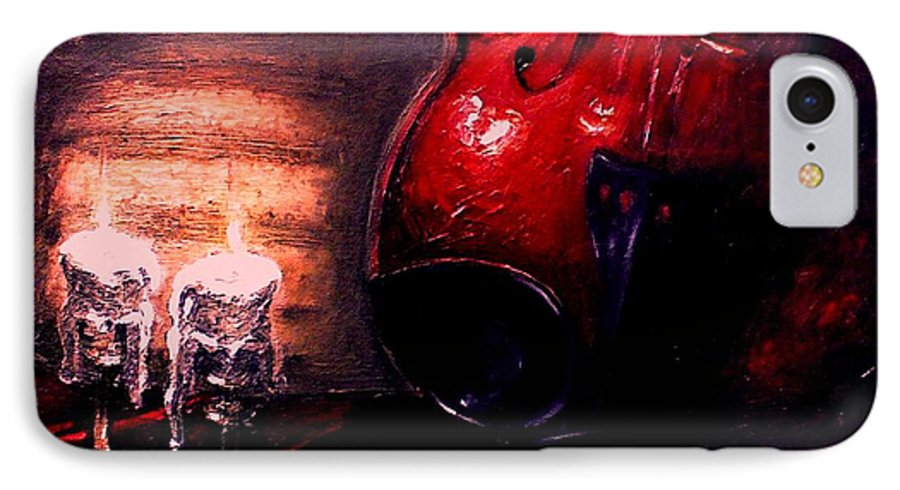 Love IPhone 7 Case featuring the painting Love For Music by Patricia Awapara