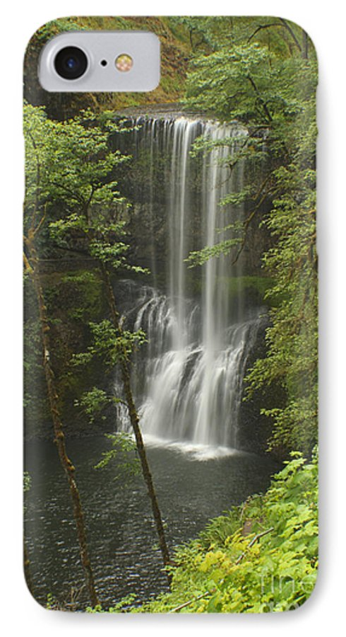 Silver Falls IPhone 7 Case featuring the photograph Lower South Falls by Idaho Scenic Images Linda Lantzy