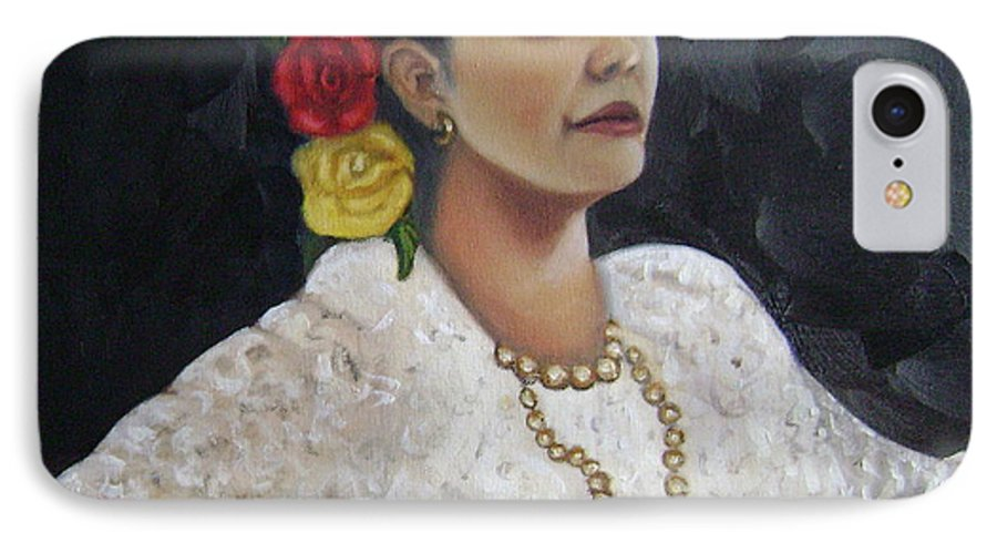IPhone 7 Case featuring the painting Lucinda by Toni Berry
