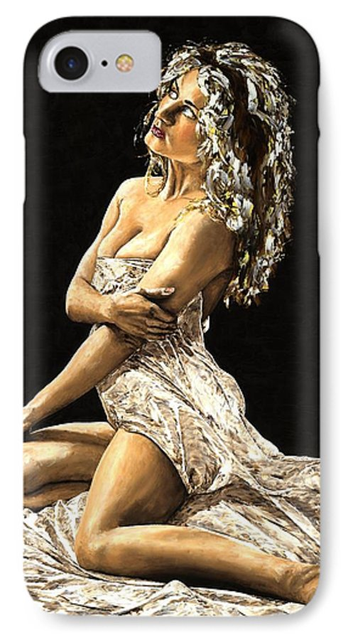 Nude IPhone 7 Case featuring the painting Luminous by Richard Young