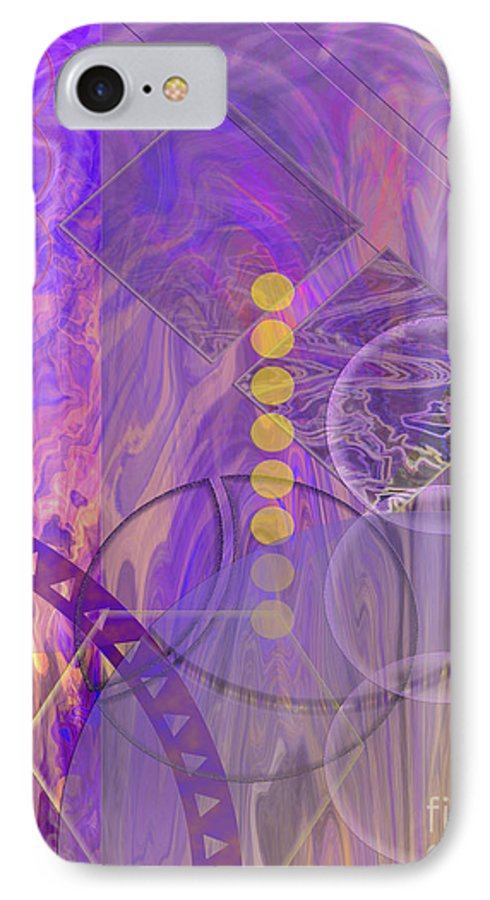 Lunar Impressions 3 IPhone 7 Case featuring the digital art Lunar Impressions 3 by John Beck