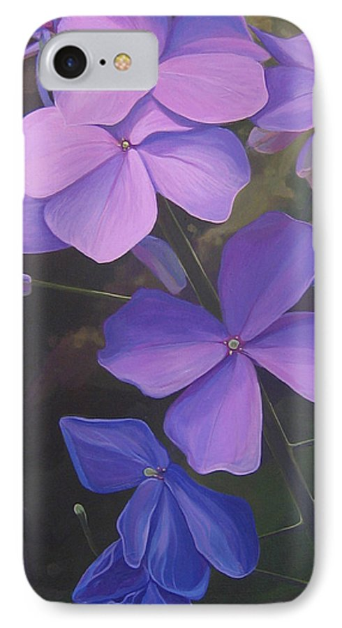 Closeup Of Colorado Wildflower Near Durango IPhone 7 Case featuring the painting Lush Life by Hunter Jay