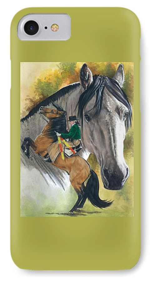 Horses IPhone 7 Case featuring the mixed media Lusitano by Barbara Keith