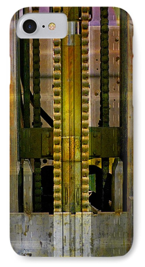 Texture IPhone 7 Case featuring the photograph Machina by Skip Hunt