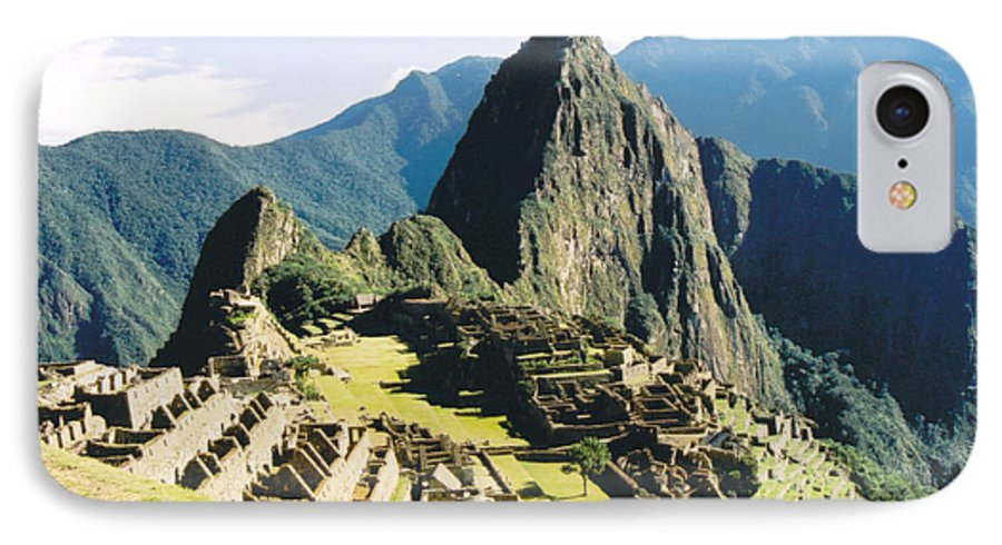 Peru IPhone 7 Case featuring the photograph Machu Picchu by Kathy Schumann